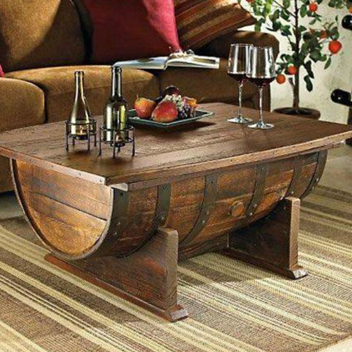 Barrel Wine Coffee Table
