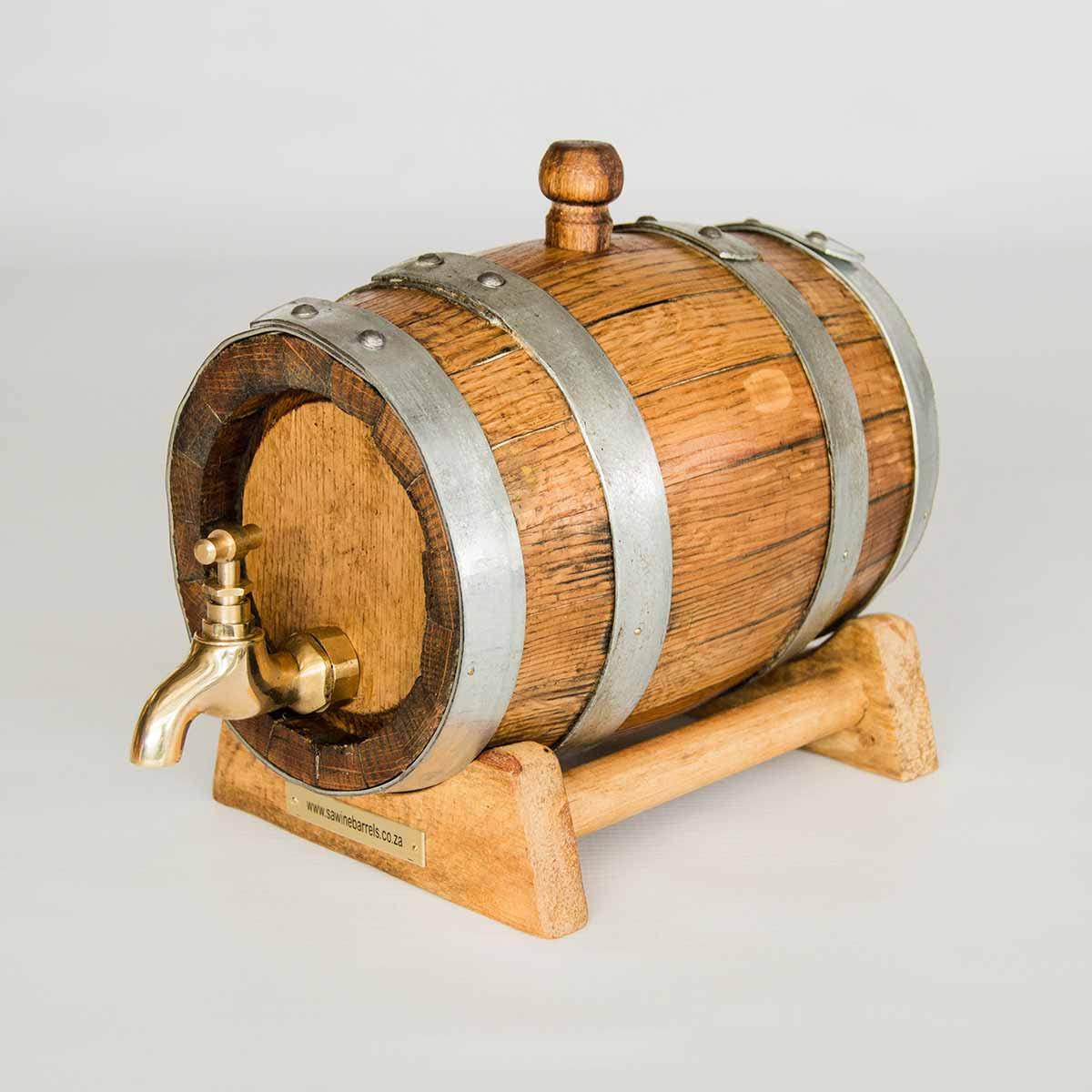 French Oak Wine Barrel Miniature Cask 1LT Silver