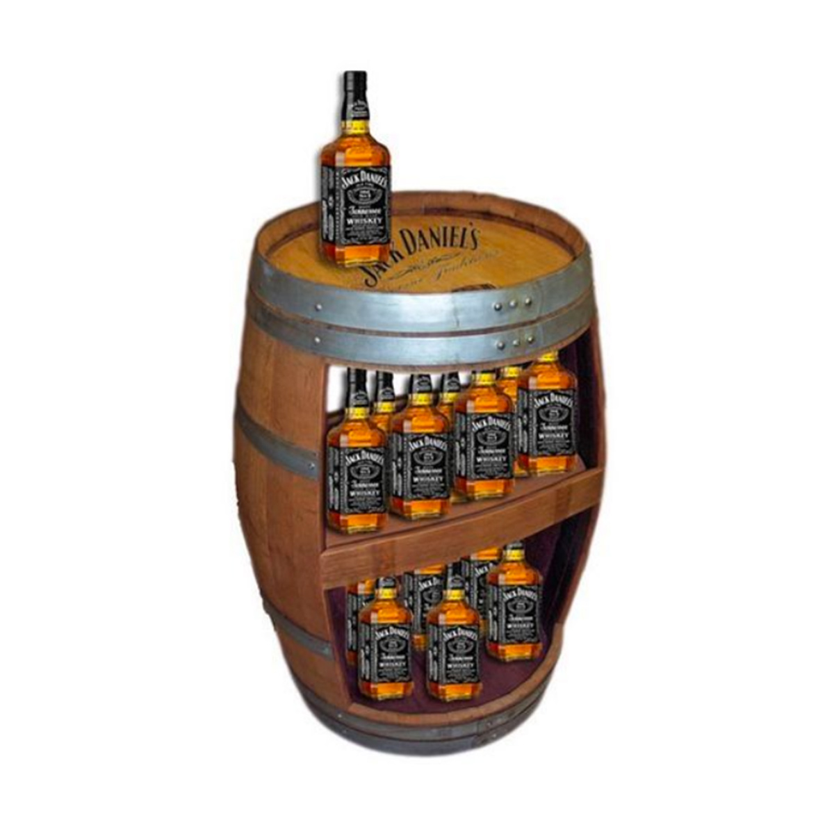 Wine Barrel Display Rack