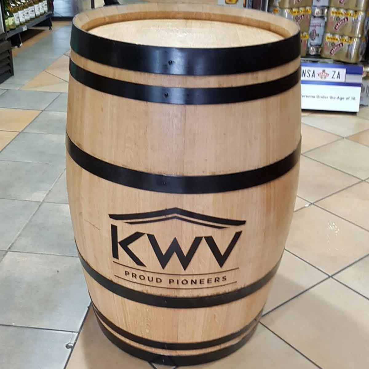 KWV Display Red Wine Barrel