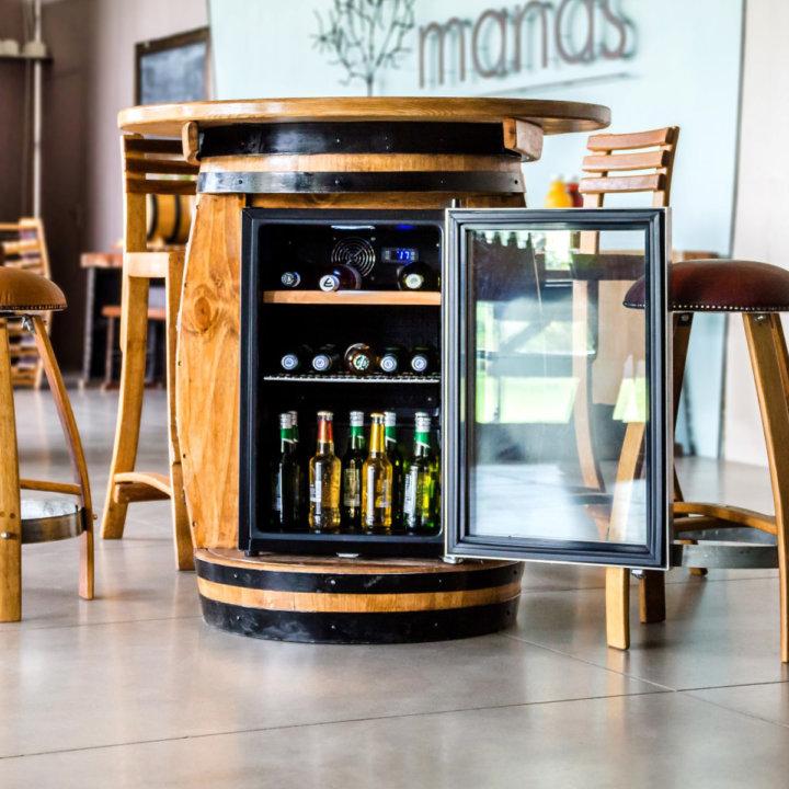 70ℓ Wine Barrel Fridge Beverage Cooler Wine Barrel
