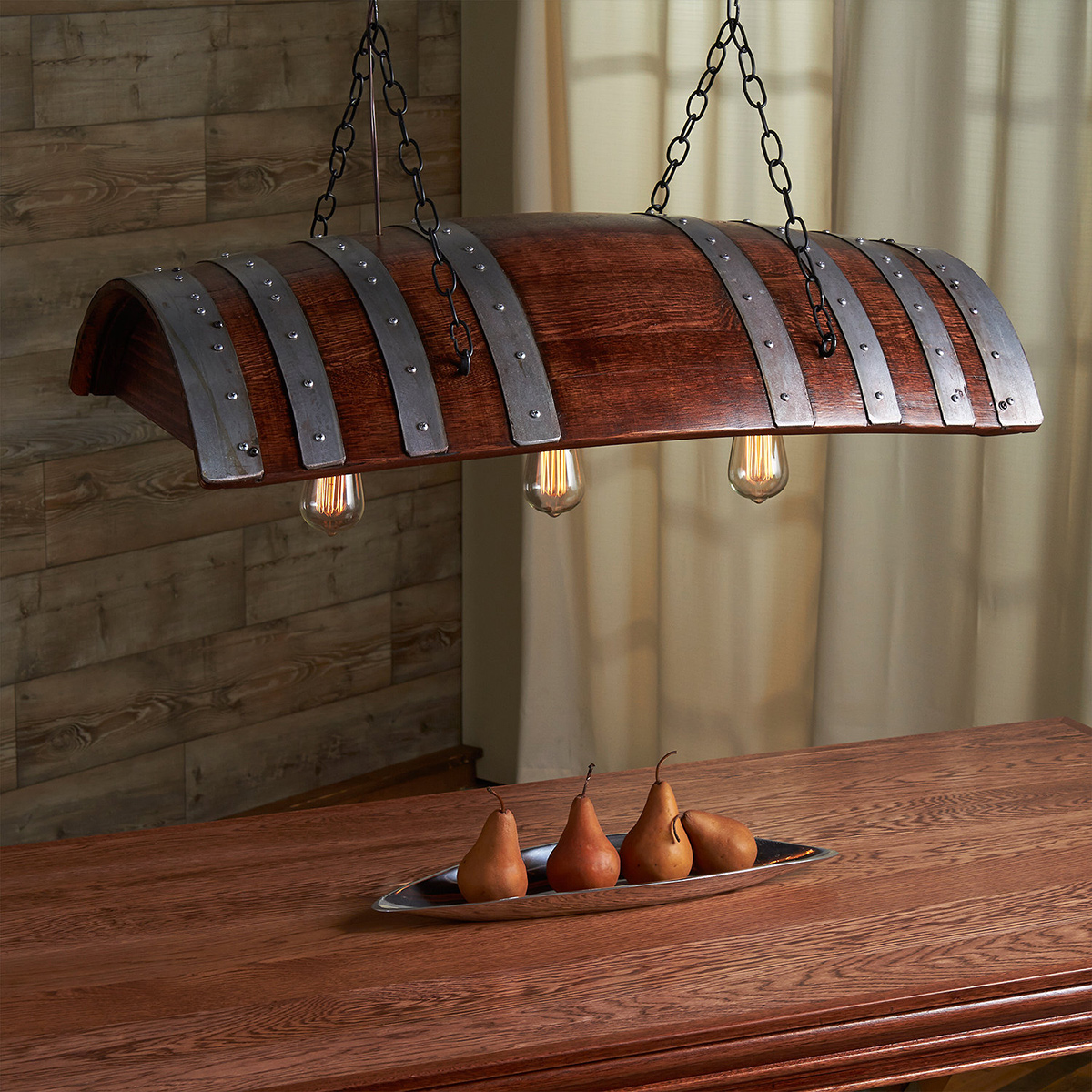 Wine Barrel Pendant Lighting