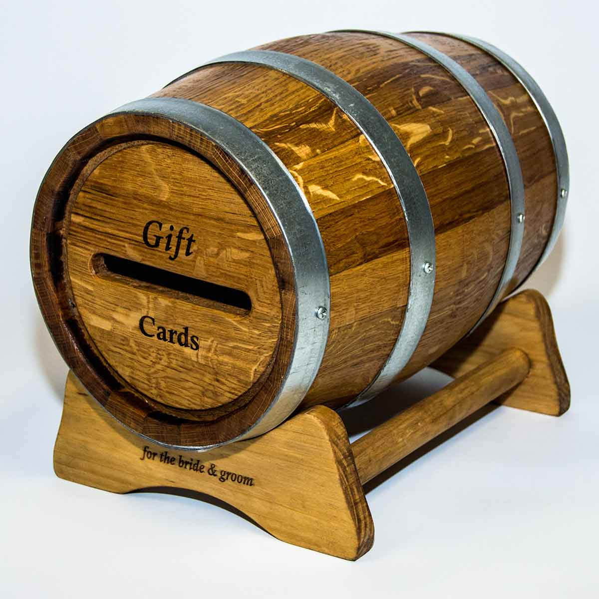 Wine Barrel Wedding Card Barrel