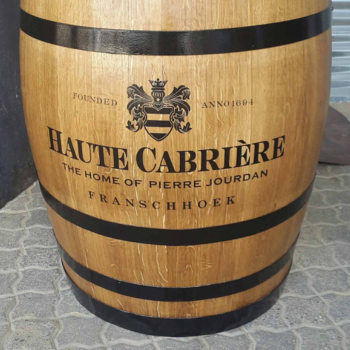 Haute Cabriere Display Red Wine Barrel
