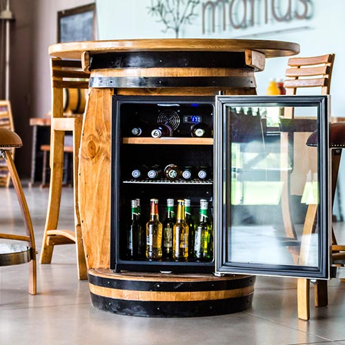 Wine Barrel Bar Fridges