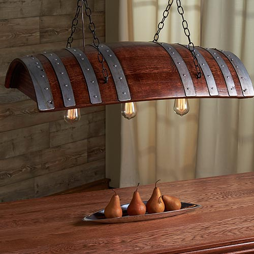 Wine Barrel Lighting