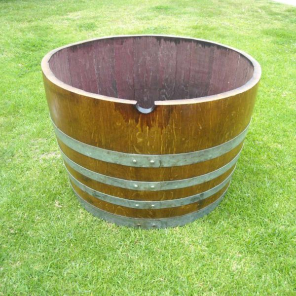 Used Wine Barrel Planter
