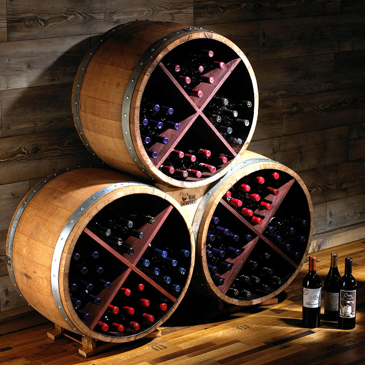 Signature Barrel Wine Rack